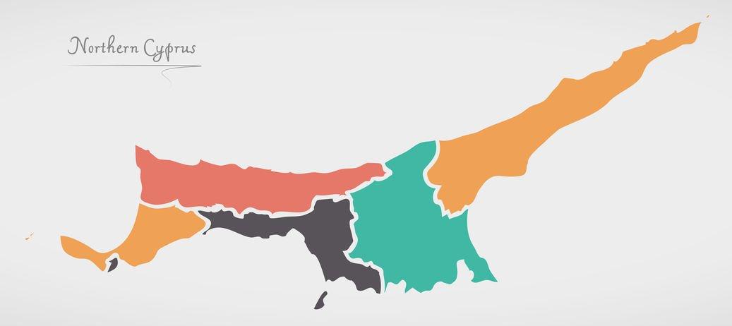 מפה קפריסין הטורקית